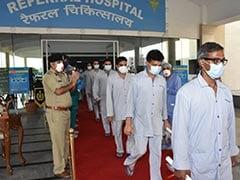 Coronavirus: सुरक्षा बलों के 20 जवानों को संक्रमण मुक्त होने पर अस्पताल से डिस्चार्ज किया