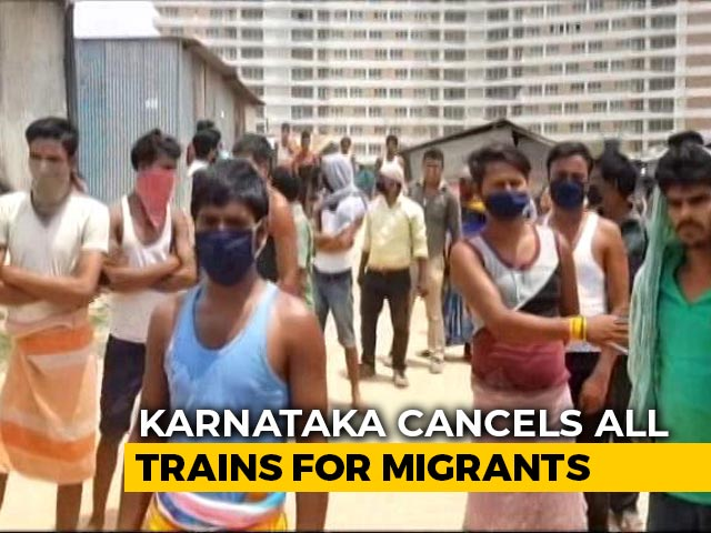 Video : Outrage As Karnataka Stops Trains to Ensure Migrant Workers Can't Leave