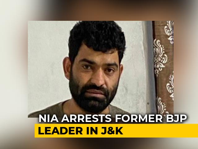 Video : J&K Leader Arrested For Alleged Terror Links; BJP Says Expelled In 2018