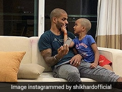 """""""Apple Doesn't Fall Far From The Tree"""": Shikhar Dhawan's Son Zoravar Looks Exactly Like His Father In This Photo"""