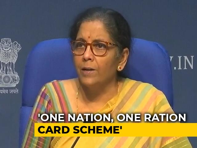 Video : 'One Nation One Ration Card' For Migrants, Says Nirmala Sitharaman