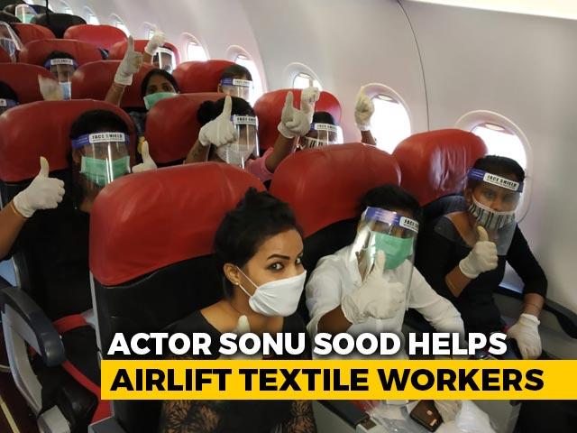 Video : Sonu Sood Airlifts 177 Migrant Workers Stuck In Kerala