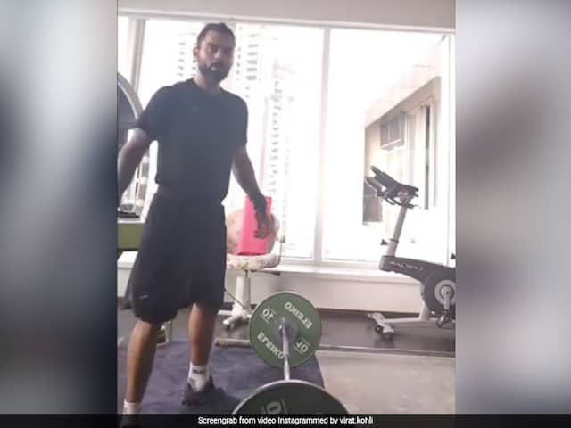 Virat Kohli Shows Off Extreme Weightlifting Skills, AB De Villiers Left In Awe. Watch Video