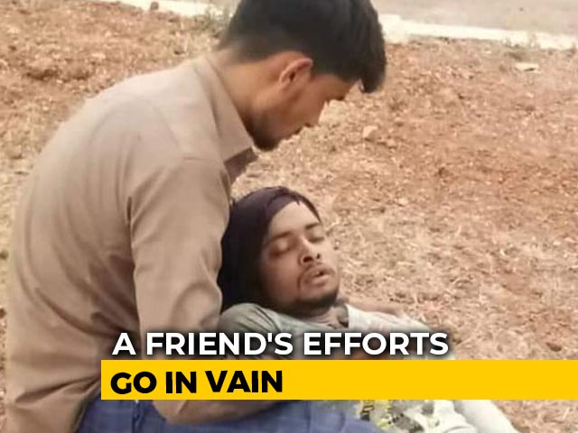 Video : Migrant Lies On Friend's Lap On Road. Story Behind Moving Picture