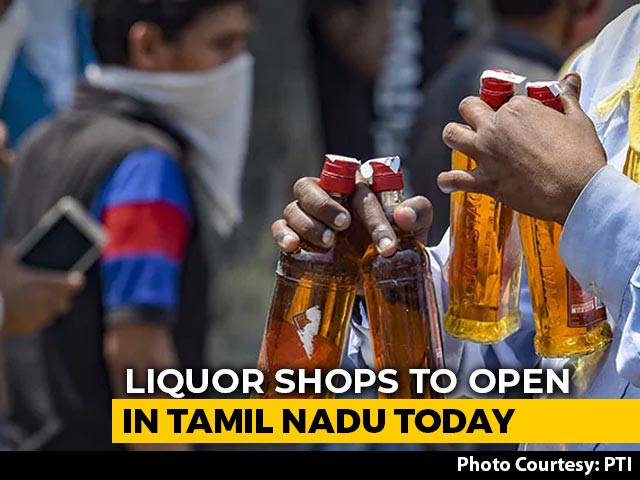 Video : Liquor Shops To Reopen In Tamil Nadu, Only 500 Can Buy From A Shop Daily