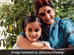 """Miss You With Every Breath"": Sushma Swaraj's Daughter On Mother's Day"