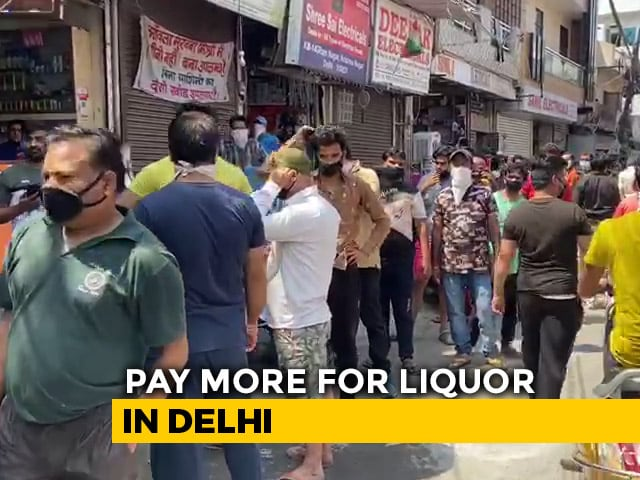"""Video : Delhi To Charge 70% """"Corona Fee"""" On Liquor From Today"""