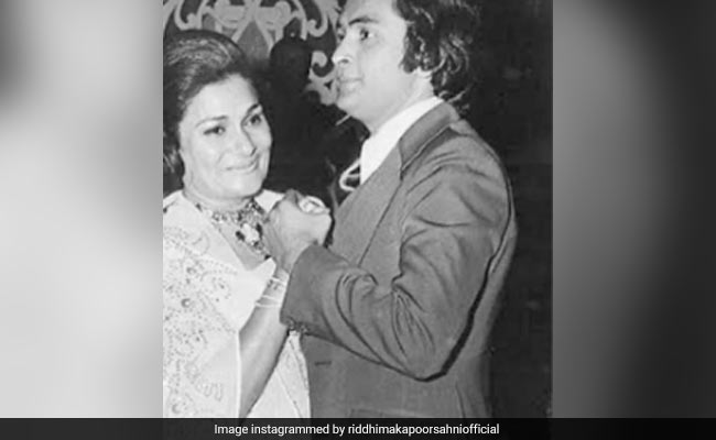 Rishi Kapoor And Mother Krishna, 'Reunited' In Daughter Riddhima's Throwback Pic