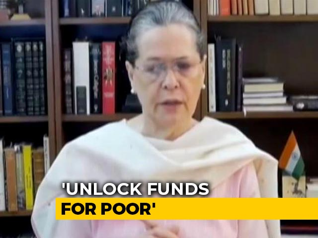 Video: 'Unlock Coffers' For Poor: Sonia Gandhi's Video Message For Government