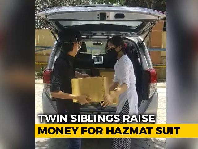 Video : Delhi Twins, Class 11 Students, Raise Money For Hazmat Suits, PPE Kits