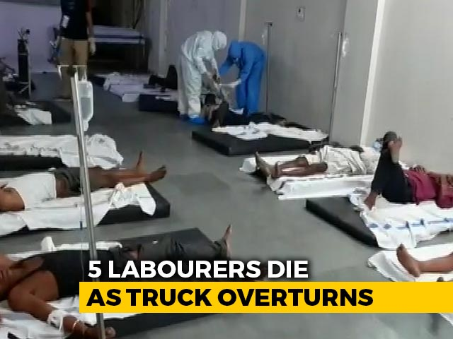Video : 5 Migrant Workers Killed, 15 Injured As Truck Overturns In Madhya Pradesh