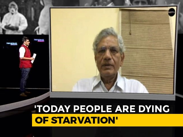 Video : 5 Kg Foodgrains For Workers Is Too Little, Too Less: CPM's Sitaram Yechury