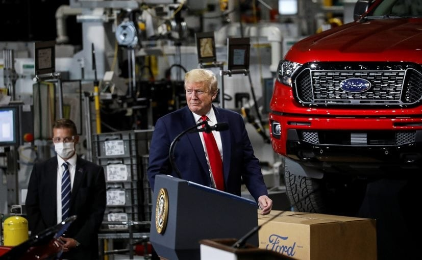 Donald Trump Visits Ford Plant In Politically Crucial Michigan, Leaves Mask Off For Cameras