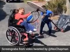 Video Of Kid Helping Specially-Abled Sister Score A Basket Wins Internet