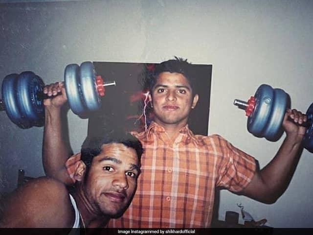 """Such A rHAIR Picture"": CSK Troll Shikhar Dhawan For His Throwback Photo With Suresh Raina"