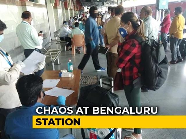 Video : First Train Passengers Arrive In Bengaluru, Many Go Back Over Quarantine