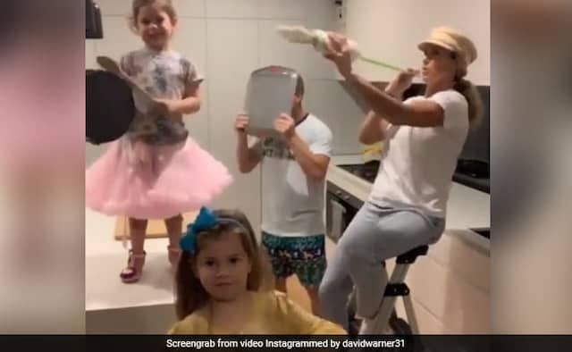 David Warner shares Video with family on Instagram ask can we go outside