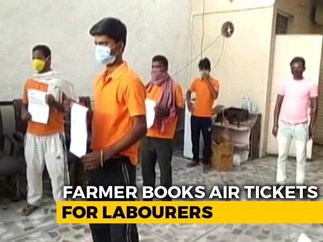 Video : Delhi Farmer Spends Rs 70,000 On Air Tickets To Send 10 Migrants Home