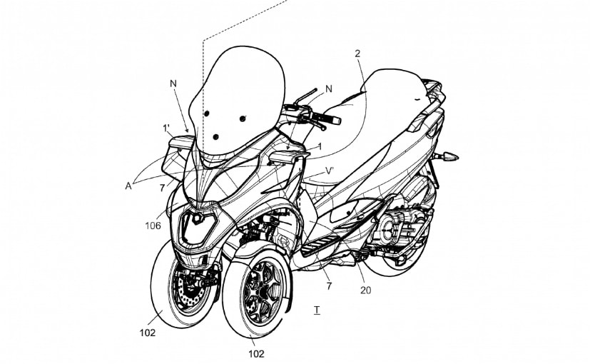 Piaggio Files Patents For Aerodynamic Winglets For Scooters