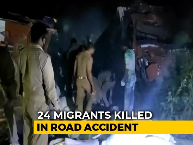 Video : 24 Migrants Killed, Many Injured After Two Trucks Collide In UP