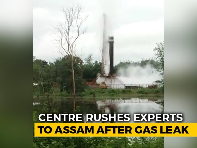Video : Gas Leaking From Assam Oil Well For 4 Days, Centre Sends More Experts