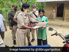 Assam Cops Gift 2-Wheeler To Young Woman Who Sells Vegetables On Bicycle
