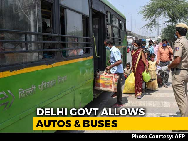 Video : Delhi Allows Autos, Buses; Odd-Even For Shops In Markets; No Salons