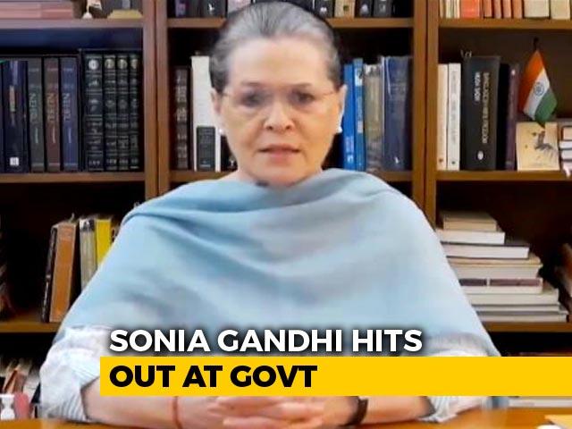 Video: PM's Package 'Cruel Joke On Country': Sonia Gandhi At Opposition Meet