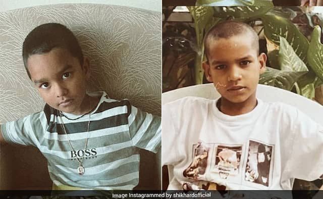 Shikhar Dhawan shares childhood photo of his and of son Zorawar pic goes viral