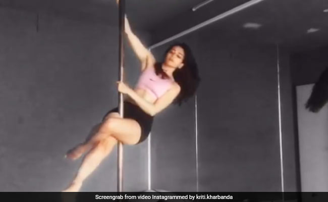 Throwback To The Time When Kriti Kharbanda Did A Pole Dance To Stay Fit
