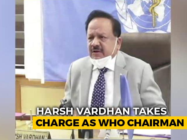 Video : Harsh Vardhan Takes Charge As Chairman Of WHO's Executive Board
