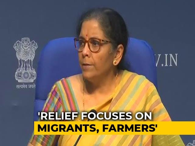 Video : Migrants Getting 3 Meals A Day, Says Nirmala Sitharaman