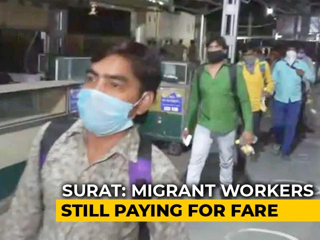 Video : Paying More Than Ticket Price, Say Migrants Taking Train From Gujarat's Surat