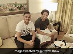 """God Of Cricket"" Sachin Tendulkar Looms Over India Prodigy Prithvi Shaw"