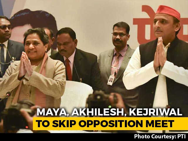 Video : Mayawati, Akhilesh Yadav, Arvind Kejriwal To Skip Mega Opposition Meet