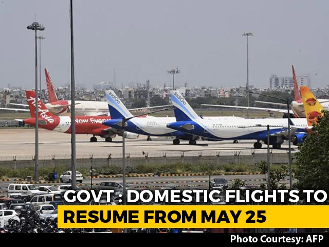 Video : Domestic Flights From Monday, Minister Says Middle Seats Can't Be Vacant