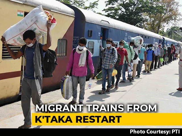 Video : 4 Migrant Trains From Karnataka Today As Services Restart After Criticism