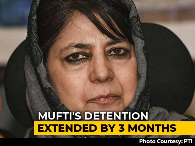 Video : Mehbooba Mufti's Detention Under Public Safety Act Extended By 3 Months