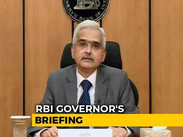 Video : GDP Growth In 2020-21 Expected To Remain In The Negative: RBI Governor