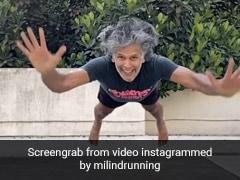 मिलिंद सोमन ने Superman Push-Ups करते हुए शानदार Video किया शेयर, हवा में उड़ते आए नजर
