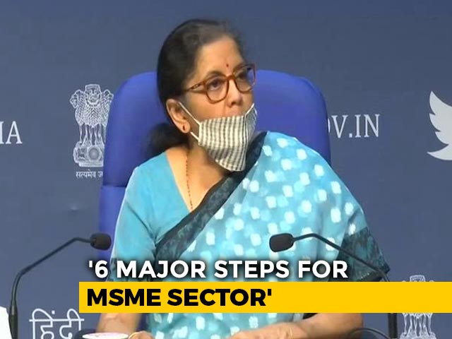 Video : 3 Lakh Crores Collateral-Free Loans For MSMEs, Says Nirmala Sitharaman