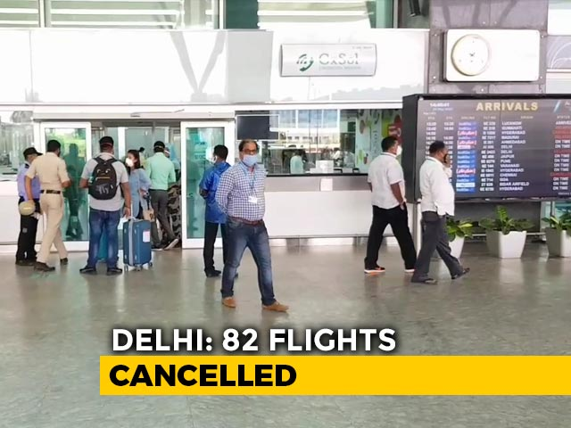 Video : More Than 80 Flights In Delhi Cancelled, Confusion At Airports