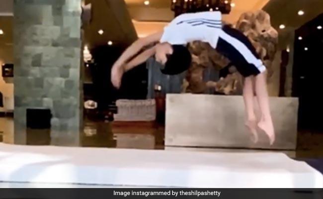 Inspired By Mom Shilpa Shetty, Viaan Raj Kundra Tried Gymnastics