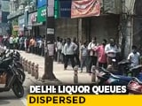 Video : Long Queues, Social Distancing A Challenge As Liquor Shops Open