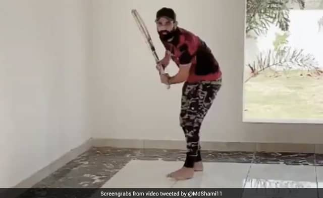 Mohammad Shami Share a video of himself playing cricket Irfan Pathan react on it Watch Video