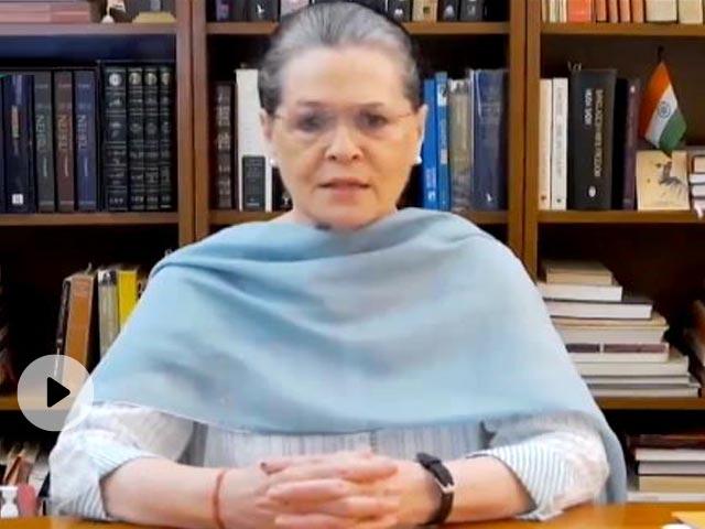 कांग्रेस अध्यक्ष सोनिया गांधी का केंद्र सरकार को सुझाव- खजाने का ताला खोलिए और जरूरतमंदों को राहत दीजिए