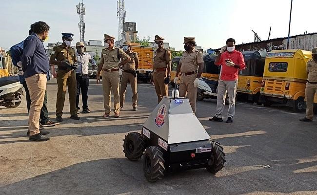 Coronavirus Lockdown: These 4-Wheeled Robots Are Keeping Chennai Police Safe