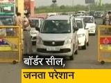 Video : दिल्ली-हरियाणा सीमा सील, दिल्ली-गुरुग्राम बॉर्डर पर लगा लंबा जाम