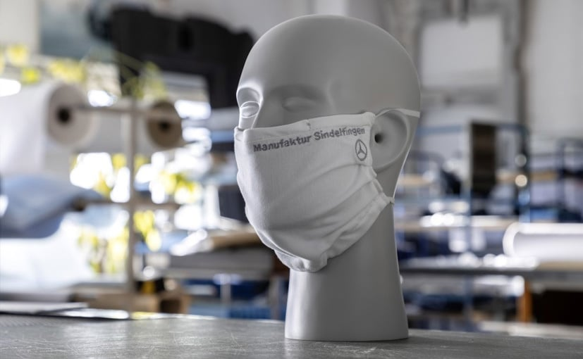 Mercedes-Benz Produces Hand Crafted Face Masks For Employees At Sindelfingen Plant