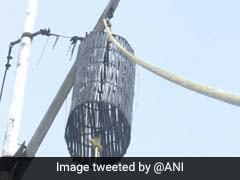 ''Cyclone Warning Cage No 2'' Hoisted At Rameswaram Port